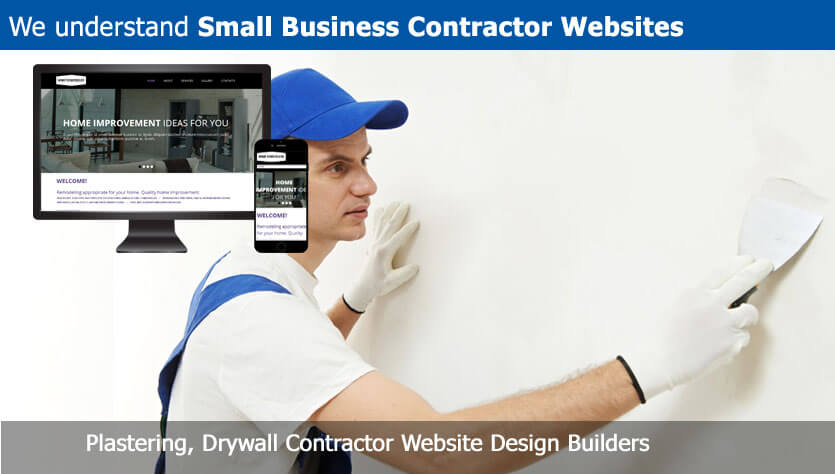 Plastering, Drywall Contractor Website Design