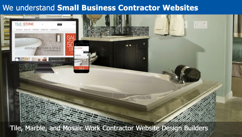 Tile Marble And Mosaic Work Contractor Website Designer